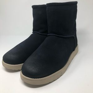 UGG Classic Toggle Waterproof Black Suede Boots